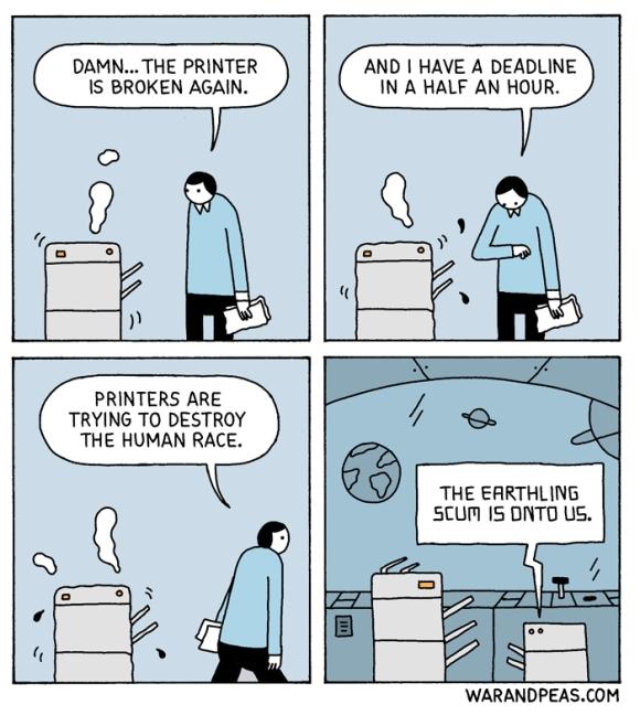 war and peas - printers