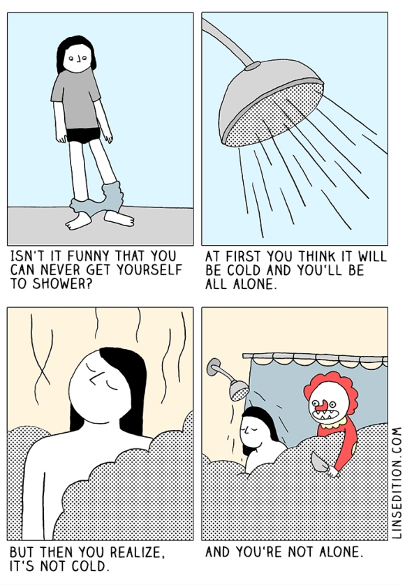 Shower-thoughts-killerclown-comic-linsedition
