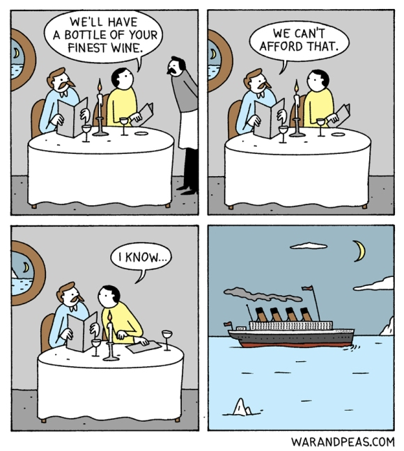 war-and-peas-i-know titanic time traveler funny comic