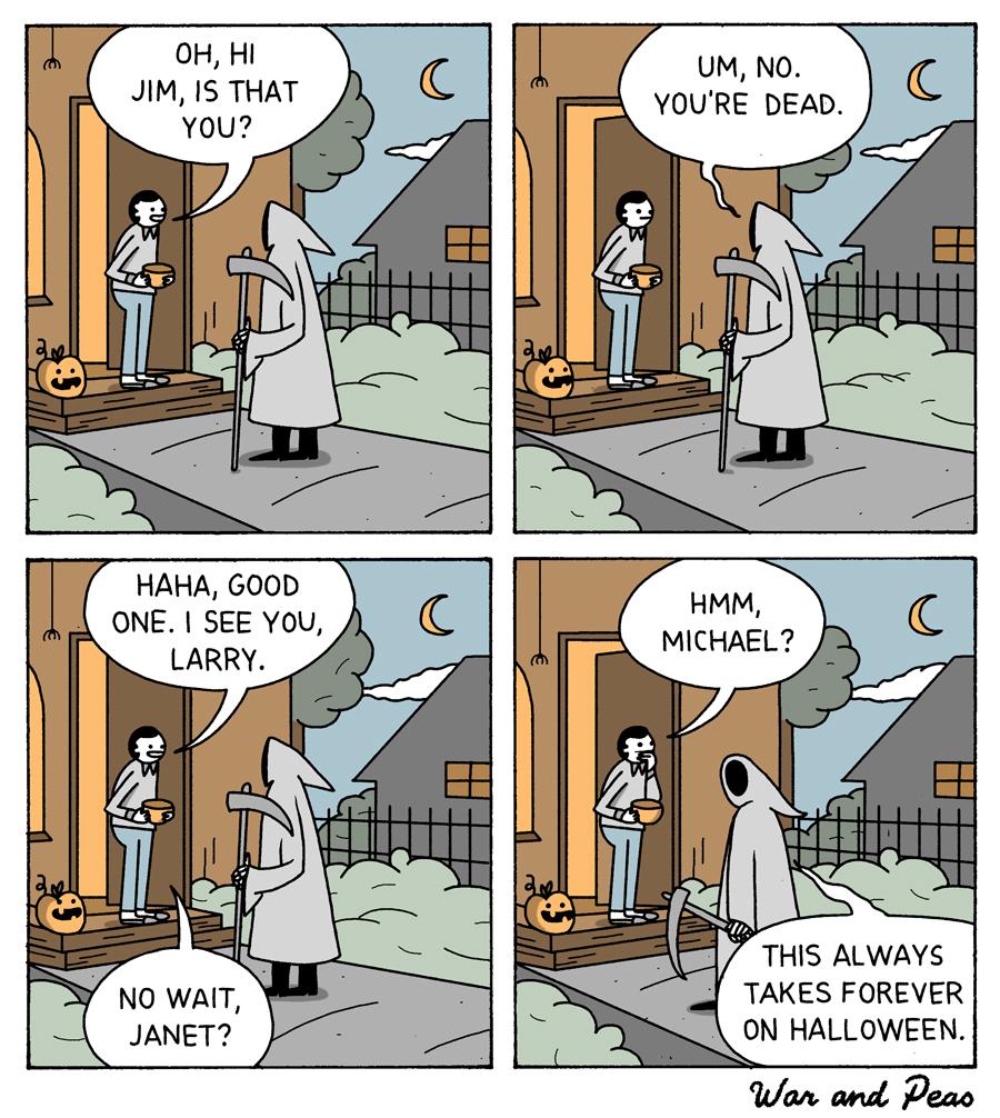 Funny Boob Cartoons grim reaper   war and peas